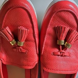 Michael Kors Shoes - Michael Kors Tassel Coral Boat Shoes
